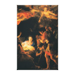 The Adoration of the Shepherds Stretched Canvas Print