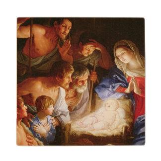 The Adoration of the Shepherds Wood Coaster