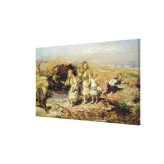 The Adventure, 1883 (oil on canvas) Canvas Print