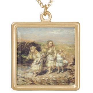 The Adventure, 1883 (oil on canvas) Custom Necklace