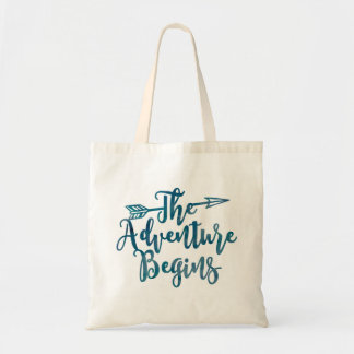 The Adventure Begins Watercolor Bag
