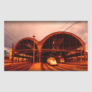 The adventure of another time rectangular sticker