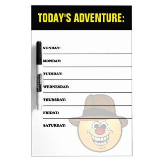 The Adventurer: Treasure Hunter Smiley Dry Erase Board