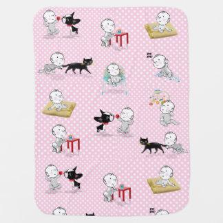 The Adventures of Mirabelle girl baby blanket