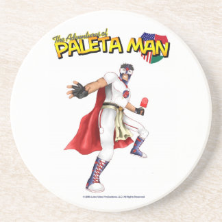 The Adventures of Paleta Man Coaster