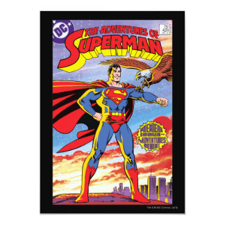 The Adventures of Superman #424 13 Cm X 18 Cm Invitation Card
