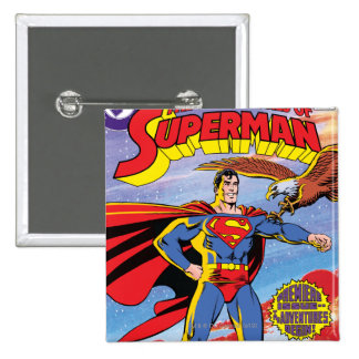 The Adventures of Superman #424 15 Cm Square Badge