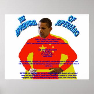The Adventures of SUPERMAO - Barack Obama Poster