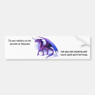 The affairs of dragons Bumpersticker Bumper Sticker