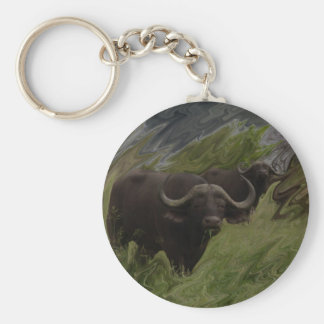The African Buffalo Key Ring