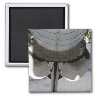 The aft portion of the Space Shuttle Endeavour 2 Square Magnet