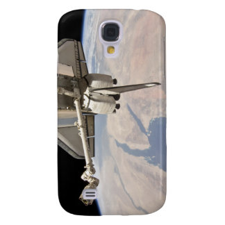 The aft section of the docked space shuttle galaxy s4 case