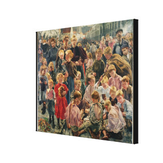 The Ages of the Worker Canvas Print