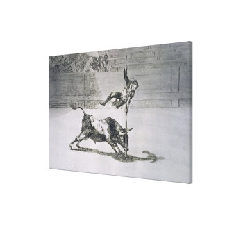 The agility and audacity of Juanito Apinani in the Canvas Print