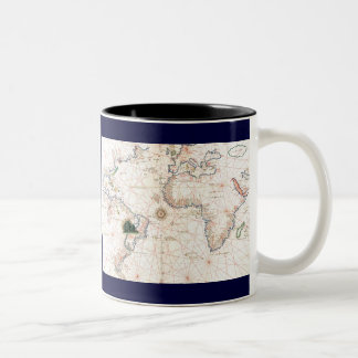 The Agnese Atlantic Chart Coffee Mugs