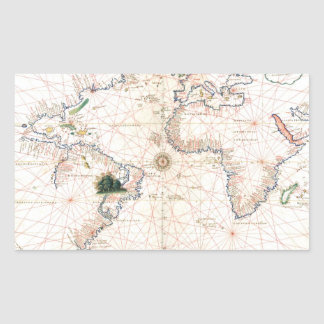 The Agnese Atlantic Chart Rectangular Sticker