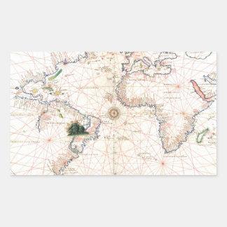 The Agnese Atlantic Chart Sticker