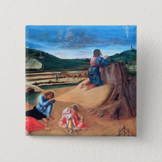The Agony in the Garden 15 Cm Square Badge