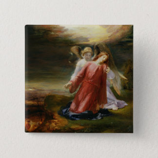 The Agony in the Garden, 1858 (oil on panel) 15 Cm Square Badge