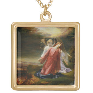 The Agony in the Garden, 1858 (oil on panel) Gold Plated Necklace