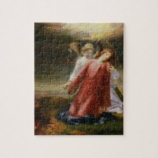 The Agony in the Garden, 1858 (oil on panel) Jigsaw Puzzle