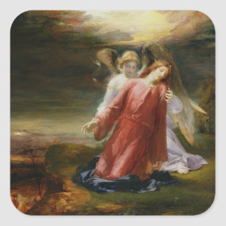 The Agony in the Garden, 1858 (oil on panel) Square Sticker