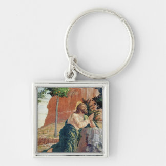 The Agony in the Garden Silver-Colored Square Key Ring