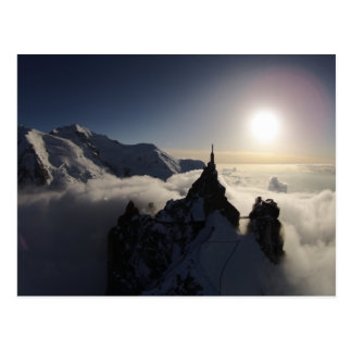 The Aiguille du Midi and Mont Blanc Postcard