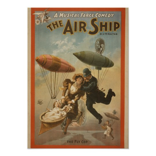 The AIR SHIP Musical Comedy VAUDEVILLE Poster