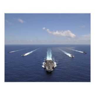 The aircraft carrier USS Abraham Lincoln 2 Photographic Print