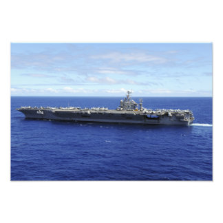 The aircraft carrier USS Abraham Lincoln Photo Print