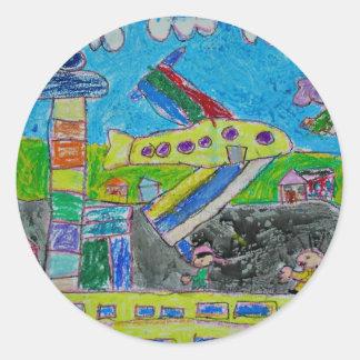 The Airport Round Sticker