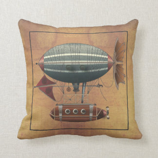 The Airship Aleutian Steampunk Flying Machine Cushion