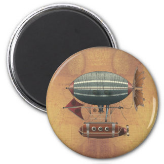 The Airship Aleutian Steampunk Flying Machine Magnet