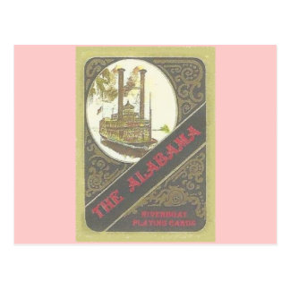 THE ALABAMA RIVERBOAT LUCKY GAMBLER POST CARDS
