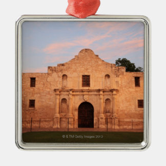 The Alamo Mission in modern day San Antonio, 2 Silver-Colored Square Decoration