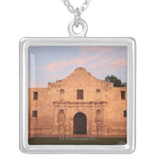The Alamo Mission in modern day San Antonio, 2 Silver Plated Necklace