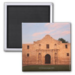 The Alamo Mission in modern day San Antonio, 2 Square Magnet