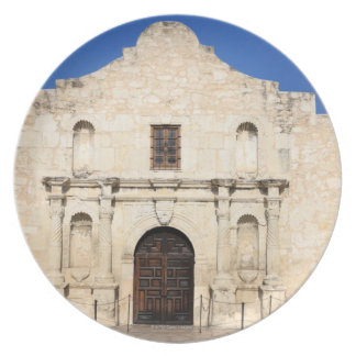 The Alamo Mission in modern day San Antonio, 3 Plate