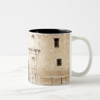 The Alamo Mission in modern day San Antonio, 3 Two-Tone Coffee Mug
