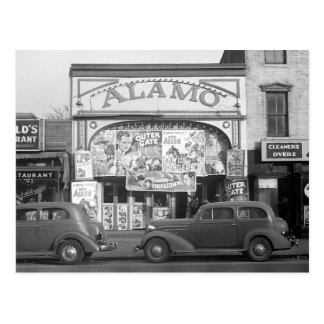 The Alamo Movie Theater, 1937 Postcard