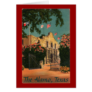 The Alamo Vintage Texas Greeting Card