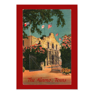 The Alamo Vintage Texas Invitation