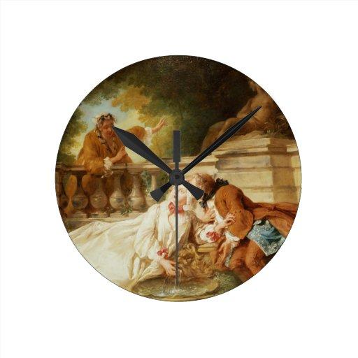 The Alarm, 1723 (oil on canvas) Clocks
