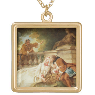 The Alarm, 1723 (oil on canvas) Necklace
