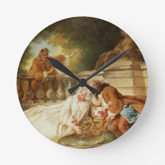 The Alarm, 1723 (oil on canvas) Round Clock