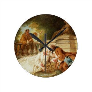 The Alarm, 1723 (oil on canvas) Wallclock