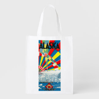 The Alaska Line Steamship Poster Reusable Grocery Bag