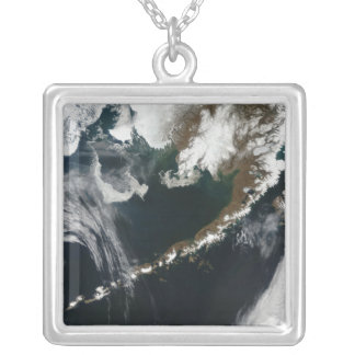 The Alaskan Peninsula and Aleutian Islands Silver Plated Necklace