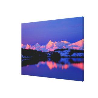 The Alaskan Range is adjacent to Mt. Denali, Canvas Print